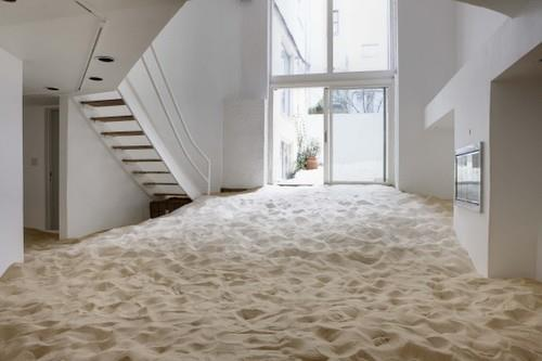Apartment filled with sand
