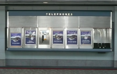 Airport pay phones have all disappeared.