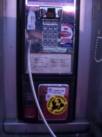 parking lot pay phone