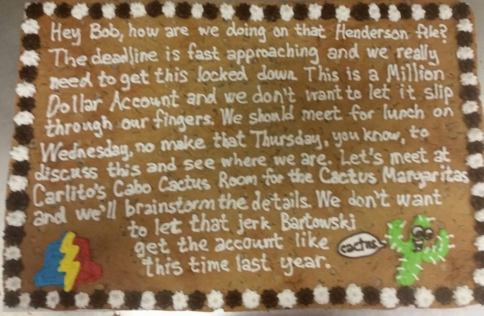 Patrick S fit the entire corporate memo onto a cookie!