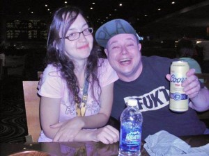 This picture of Staci and Laugh Track Matt has nothing to do with this show, but I sure love it.